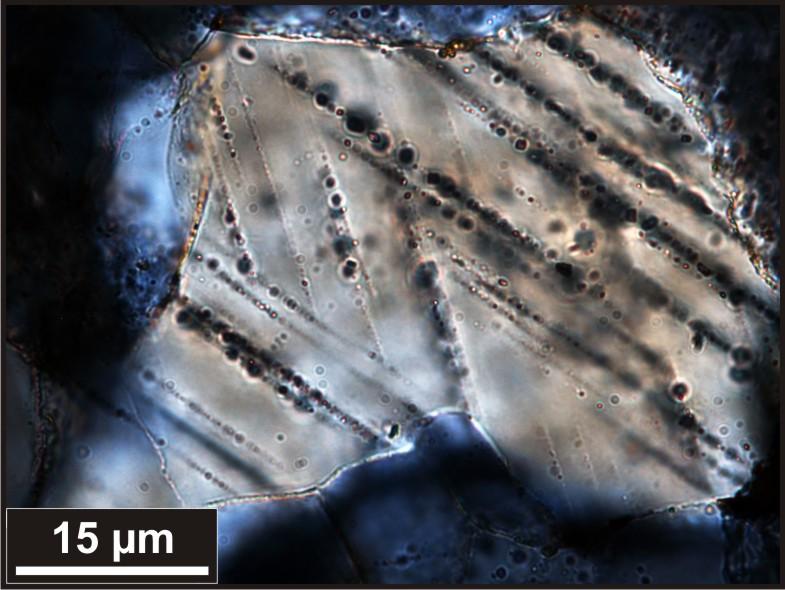 Shocked Quartz Crystals Shocked Quartz Grain With Two